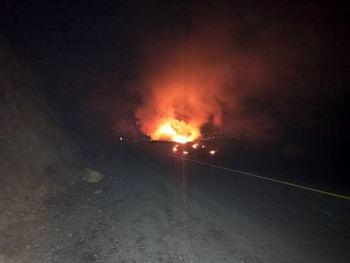 انفجار تانکر سوخت در سنندج جان راننده را گرفت