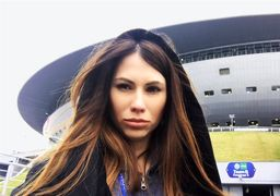 هیجان بانوی روسی مجری قرعه کشی جام جهانی فوتبال +عکس