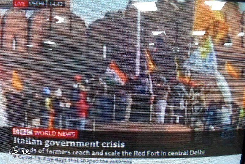 گاف بی بی سی جهانی در مورد تظاهرات ایتالیا