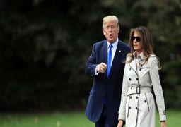 ترامپ در کنار «بدل» مخفی همسرش + عکس