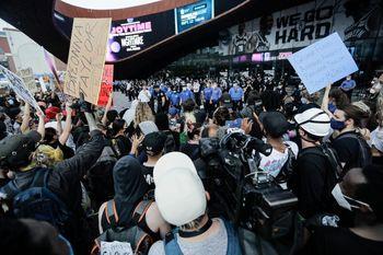 فیلم| حالوهوای انقلابی خیابانهای آمریکا