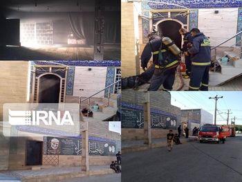 یک مسجد در خرمشهر آتش گرفت