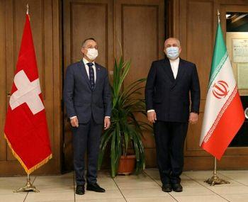 تصویری از دیدار دیپلماتیک ظریف با وزیر امورخارجه سوئیس