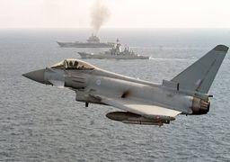 رهگیری هواپیمای جنگی روسیه توسط بریتانیا