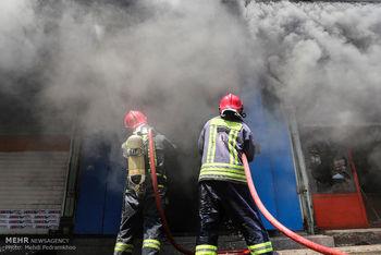 آتش سوزی عمدی در بازار خرمشهر