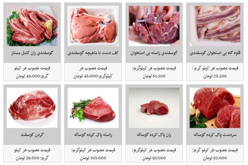 آخرین قیمتها از بازار گوشت قرمز