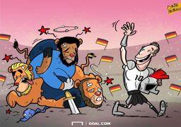 وقتی یک فوتبالیست آلمانی سه شیر انگلیس را شکار کرد!