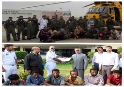 ملوانان ایرانی گرفتار در آبهای بندر کراچی نجات یافتند