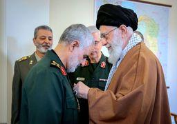 تصاویری از مقام معظم رهبری و شهید سردار سلیمانی