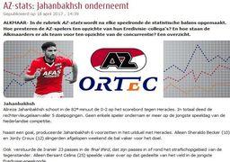 تمجید ویژه باشگاه فوتبال هلندی ازجهانبخش