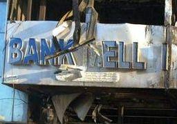 حمله و تخریب اوباش به بانک ملی اهواز + عکس