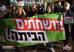 صفآرایی موافقان و مخالفان نتانیاهو در تلآویو