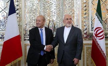 دیدار ظریف و وزیرخارجه فرانسه + عکس