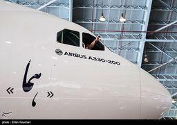 سومین هواپیمای نو به تهران رسید