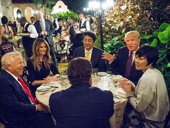 فرار همسر نخستوزیر ژاپن از دست ترامپ!