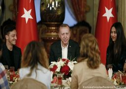 شام افطاری اوزیل و اردوغان + عکس