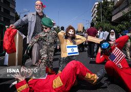 تصاویری از حاشیه راهپیمایی روز جهانی قدس در تهران
