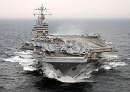 ناو هواپیمابر آمریکایی وارد خلیج فارس شد + عکس