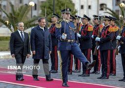 تصاویر استقبال رسمی از جهانگیری معاون اول رئیس جمهور در دمشق