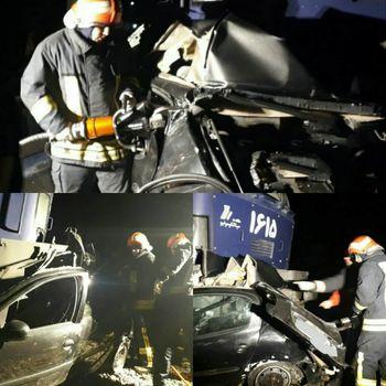 درگذشت 4 تن در اثر برخورد پژو  206 با قطار