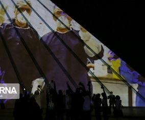 گزارش تصویری از اجرای نورپردازی سه بعدی در برج آزادی