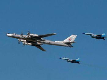 رهگیری 2 بمبافکن روسی از سوی آمریکا
