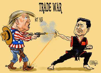 ترامپ چین را تهدید کرد/آمریکا سهمش را داده، حالا نوبت شماست!+عکس