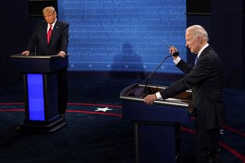 دوئل تلویزیونی ترامپ و بایدن| بجای کشور، ویروس را نابودکن /نمیتوانیم مانند جو در زیرزمین حبس شویم /ترامپِ گیج مرا با سندرز اشتباه گرفته