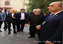 بازدید همسر مکرون از مسجدی ایرانی