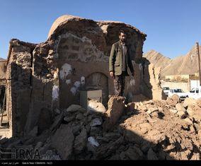 تصاویر تخریب خانههای قدیمی ساز در جریان زلزله کرمان