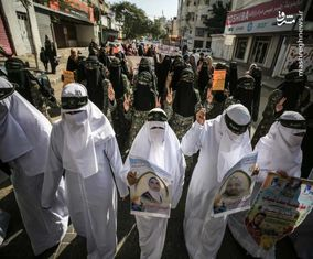 تصاویری از کفن پوش شدن زنان فلسطینی در غزه
