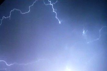 رعد و برق شدید در تهران