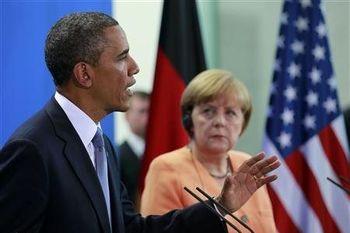 مذاکرات هسته ای ایران محور گفت وگوی اوباما و مرکل