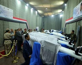 قدرتنمایی موشکی یمنیها در نمایشگاه سامانههای پدافند هوایی/ تصاویر
