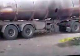 اولین فیلم از حادثه تیراندازی به تانکر سوخت در خرمآباد