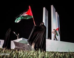تصاویر راهپیمایی خودرویی همبستگی با ملت فلسطین