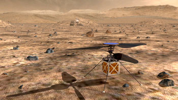 هلیکوپتر ناسا روی سطح مریخ به پرواز درمیآید