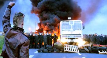 47 زخمی در تظاهرات فرانسه