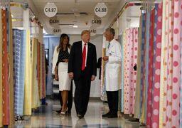 حضور ترامپ و ملانیا در بیمارستان کودکان + تصاویر