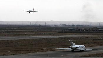 فرود اضطراری یک هواپیما در فرودگاه زاهدان