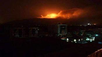 بمباران صنعا توسط جنگندههای سعودی