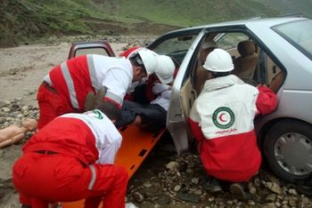 نجات 3600 مسافر نوروزی توسط هلال احمر
