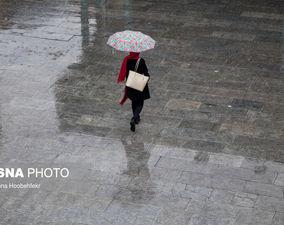 بارش باران پاییزی در تهران