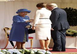 تصاویر دیدار دونالد ترامپ و ملانیا با ملکه الیزابت