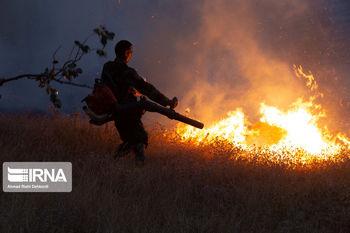 آتشسوزی جدید؛ این بار مراتع بخش سوسن ایذه