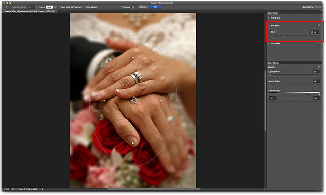 The Blur Gallery in Photoshop CS6. Image © 2012 Photoshop Essentials.com
