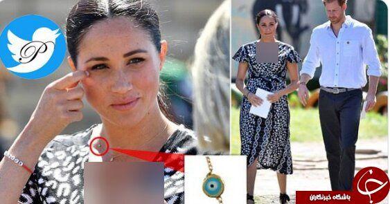 استفاده عروس ملکه از گردنبند چشم زخم خبرساز شد! +عکس