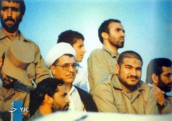عکس| آیت الله هاشمی، حسن روحانی و شمخانی در لباس نظامی