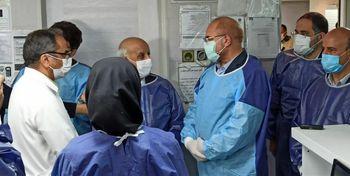 قالیباف سرزده به ICU کرونا بیمارستان امام خمینی رفت