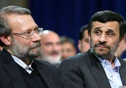 کنایه لاریجانی به احمدینژاد: عدهای به خاطر منافع سیاسی نازلشان ژست اپوزیسیون به خود میگیرند